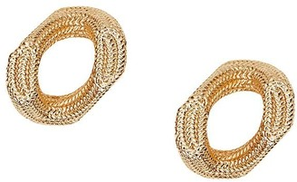Burberry Gold-Plated Chain-Link Hoop Earrings