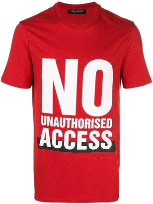 Neil Barrett No Unauthorised Access T-shirt