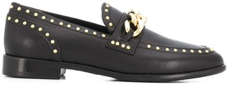 Casadei Studded Chain Link Loafers