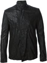 Julius stand collar jacket - men - Lamb Skin - 2