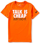 Nike Big Boys 8-20 Just Do It Dri-FIT Crewneck Short-Sleeve Tee