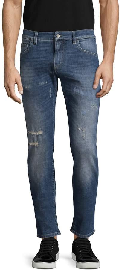 Dolce & Gabbana Men's Cotton Faded Trousers