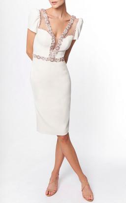 Jenny Packham Panche Embellished Crepe Dress