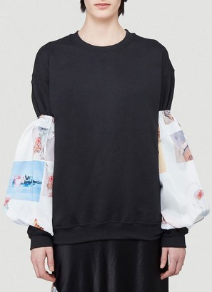 Collina Strada Graphic Print Sleeve Sweater
