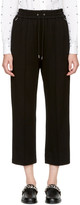 McQ by Alexander McQueen Black Pintucked Trousers