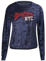 M&Co Brooklyn NYC velour sweat top