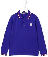 Moncler long sleeve polo shirt - kids - Cotton - 5 yrs