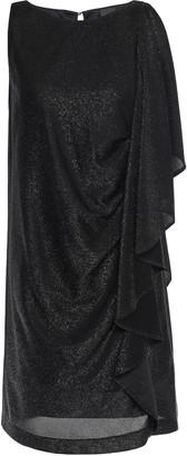 Just Cavalli Draped Metallic Jersey Mini Dress