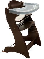 Badger Basket Embassy Wood High Chair with Tray - Espresso