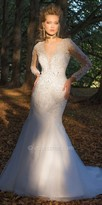 Camille La Vie Illusion Sleeve Lace Tulle Wedding Dress