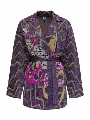 M Missoni Graphic Metallic Pattern Belted Jacket