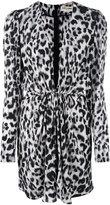 Saint Laurent leopard print plunge dress