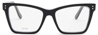 Celine Rectangular Cat-eye Acetate Glasses - Black