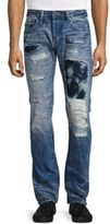 Cult of Individuality Rebel Distressed Tie-Dyed Straight-Leg Jeans