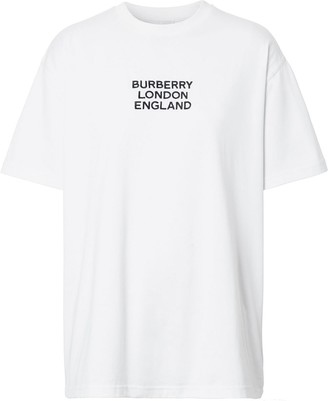 Burberry embroidered logo oversized T-shirt