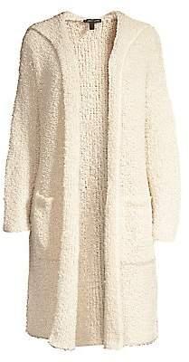 Eileen Fisher Women's Hooded Longline Wool Blend Cardigan Sweater