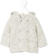 Il Gufo hooded double breasted cardi-coat