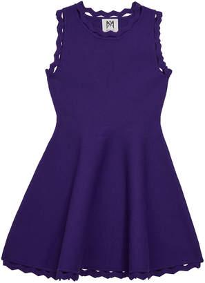 Milly Zigzag-Trim Flare Dress, Size 4-6