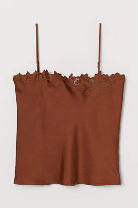 H&M Embroidered strappy top