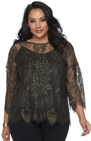 Apt. 9 Plus Size Floral Lace Top