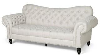 "Charlton Home Ruth 84.50"" Flared Arm Sofa Fabric: Blue"