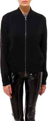 Karl Lagerfeld Paris Bomber With Snap Sleeves Jacket