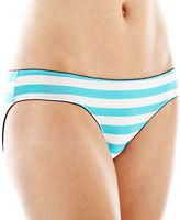 JCPenney Flirtitude Keyhole Ruched Microfiber Bikini Panties