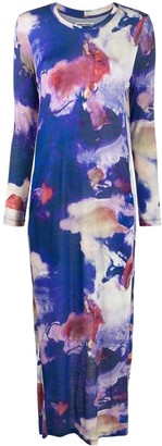 Henrik Vibskov Blue Abstract-Print Dress
