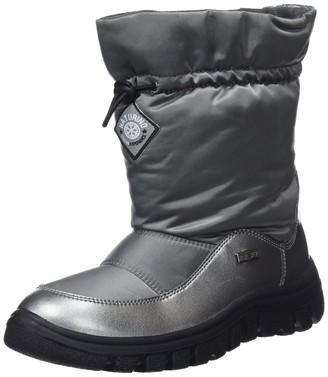 Naturino Varna Girls Snow Boots Silver (Acciaio 001300126803) 7 Child UK (24 EU)