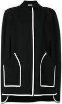 Versace snap fastening cape - women - Polyamide/Polyester/Viscose/Wool - 42