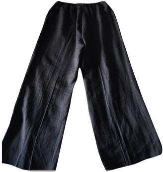 Michael Kors Black Linen Trousers