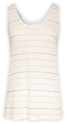 Gerard Darel Jaynne - Linen Tank Top With Stripes In Lurex