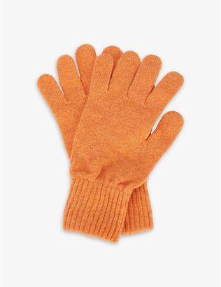 Hades Ribbed-trim wool gloves