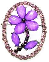 H Gaventa Ltd Purple Flower Brooch