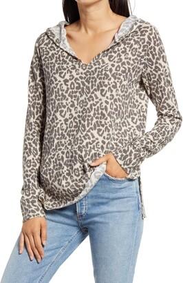 Rowa Leopard Print Hoodie