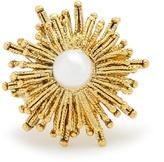 Oscar de la Renta Faux-pearl embellished sun-star ring