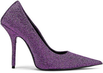 Balenciaga Square Knife Pumps in Purple | FWRD
