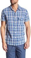 Save Khaki Short Sleeve Plaid Print Shirt