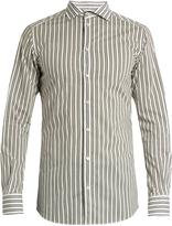 Dolce & Gabbana Gold-fit striped cotton-poplin single-cuff shirt