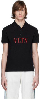 Valentino Black Logo Polo