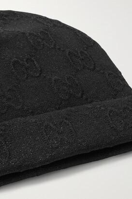 Gucci Metallic Jacquard-knit Beanie