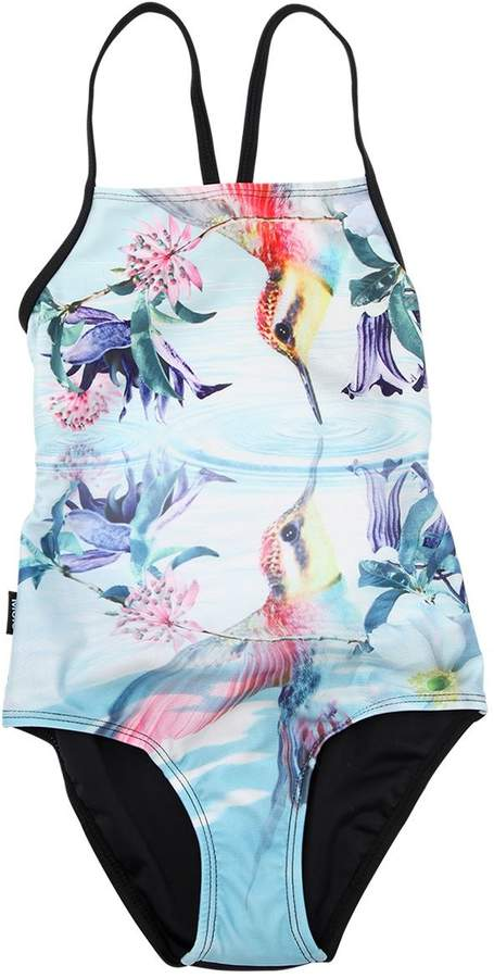Molo Lake Print Lycra One Piece Swimsuit