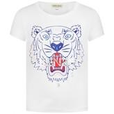 Kenzo KidsGirls White Tiger Print Top