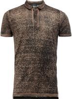 Avant Toi distressed knit polo shirt
