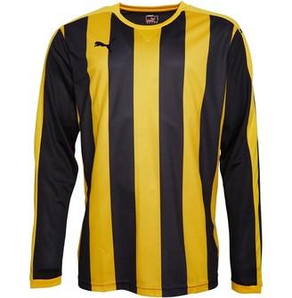 Puma Mens Striped Long Sleeve Football Jersey Yellow/Black