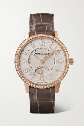 Jaeger-LeCoultre Rendez-vous Night & Day Automatic 34mm Medium Pink Gold, Alligator And Diamond Watch - Rose gold
