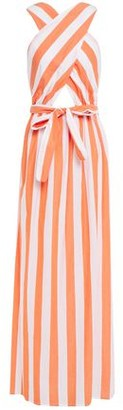 Mara Hoffman Cutout Bow-detailed Striped Cotton Maxi Dress
