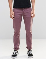 Asos Stretch Slim Jeans With In Purple