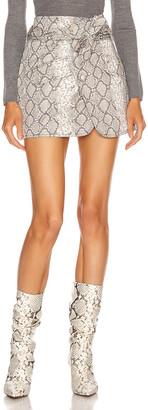 Marissa Webb Katrina Print Canvas Skirt in White Python | FWRD