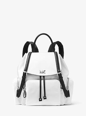 MICHAEL Michael Kors MK Beacon Medium Nylon Backpack - Optic White/blk - Michael Kors
